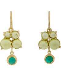 Judy Geib | Green Emerald, Peridot & Gold Drop Earrings | Lyst