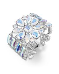 kate spade new york - Metallic New York Silvertone Iridescent Glass Stone Bracelet - Lyst