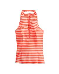 J.Crew - Orange Striped Halter Rash Guard - Lyst