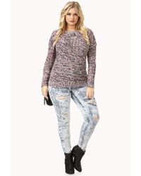 Forever 21 | Multicolor Plus Size Cozy Marled Sweater | Lyst