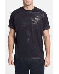 Under Armour | Black 'ua Tech Embossed' Loose Fit T-shirt for Men | Lyst