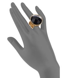 Stephanie Kantis - Metallic Casablanca Faceted Onyx Ring - Lyst