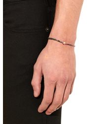 Luis Morais | Blue Rose-gold And Square-bead Bracelet for Men | Lyst