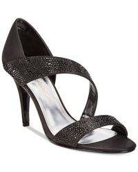 Caparros | Black Visage Evening Sandals | Lyst