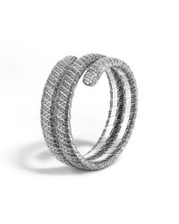 John Hardy - Metallic Classic Chain Double Coil Bracelet With Diamonds - Lyst