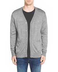 Obey | Gray 'eighty Nine' Cardigan for Men | Lyst