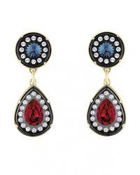 Azzaro | Metallic Golden Dauphiné Earrings | Lyst