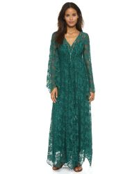 Free People - Blue Cool & Sensual Lace Maxi Dress - Ballet - Lyst