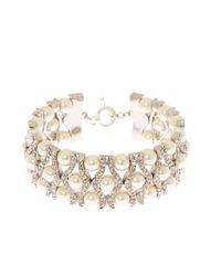 Brooks Brothers - Metallic Crystal Bracelet - Lyst