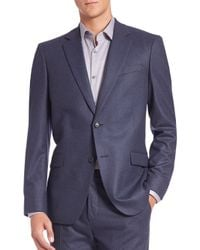 Theory - Blue Slim-fit Malcolm Wool Jacket for Men - Lyst