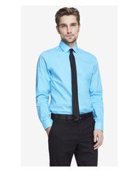 Express - Blue Modern Fit 1mx Shirt for Men - Lyst