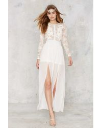 Nasty Gal | White Applique Mystique Lace Dress | Lyst
