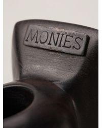 Monies - Brown Square Ring - Lyst