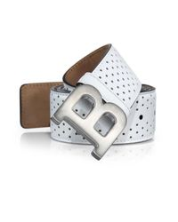 Bally | White Perforated Leather Belt for Men | Lyst