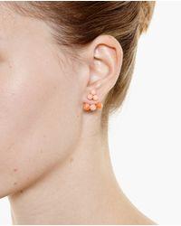 Yvonne Léon | Pink 18K Gold Coral Trilogy Earring | Lyst