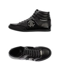 Roberto Cavalli - Black High-tops & Trainers for Men - Lyst