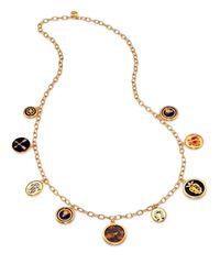 Tory Burch | Metallic Dellora Charm Necklace | Lyst