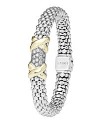 Lagos | Metallic Caviar Diamond Lux Bracelet | Lyst