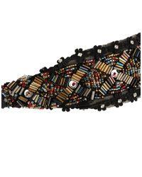 ASOS - Black Bead Embellished Headband - Lyst