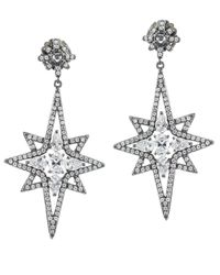 Kenneth Jay Lane | Metallic Multi Cz Star Earrings | Lyst