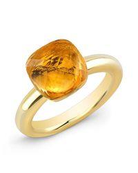 Anne Sisteron - Metallic 14kt Yellow Gold Citrine Ring - Lyst