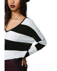 Nasty Gal - White Opposite Ways Knit - Lyst