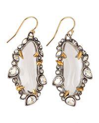 Alexis Bittar - White Jardin Mystere Jaggededge Crystalframed Lucite Earrings - Lyst