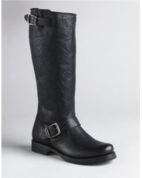 Frye | Black Veronica Slouch Leather Boots | Lyst