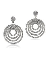 Carolee - Metallic Lincoln Center Pave Circle Drop Earrings - Lyst