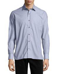 Ike Behar - Blue Patterned Sport Shirt for Men - Lyst