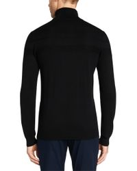 HUGO - Black Sweater In A Cotton Blend With Silk And Cashmere: 'sisanor' for Men - Lyst