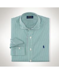Polo Ralph Lauren | Green Striped Stretch Poplin Shirt for Men | Lyst