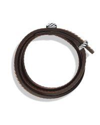 David Yurman | Cable Triplewrap Bracelet in Brown for Men | Lyst