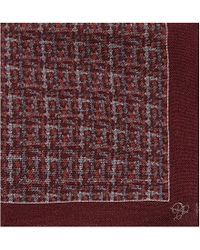 Canali | Red Herringbone-patterned Pocket Square - For Men for Men | Lyst