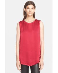 Vince - Red High/low Tank - Lyst