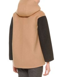 Jil Sander - Natural Two-tone Hooded Parka - Lyst