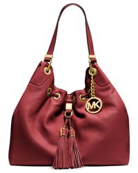 Michael Kors | Red Michael Camden Large Drawstring Shoulder Tote | Lyst