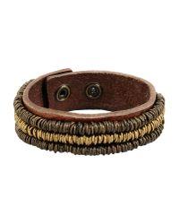 Replay - Brown Bracelet - Lyst