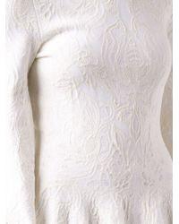 Alexander McQueen White Bishop Sleeve Dress