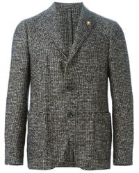 Lardini - Blue Notched Lapel Blazer for Men - Lyst