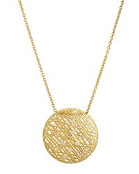 Yossi Harari | Metallic Round Wire Lace Pendant Necklace W/champagne Diamonds | Lyst