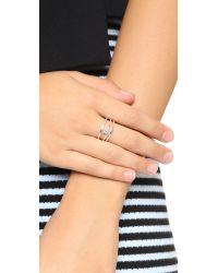 Jennifer Zeuner | Metallic Prue Ring - Silver/clear | Lyst