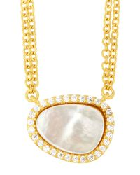 Freida Rothman - Metallic Asymmetric Double-strand Pendant Necklace - Lyst