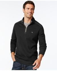 Tommy Bahama | Black Sport Mock-collar Sweater for Men | Lyst