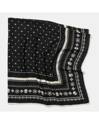 COACH   Black Skulls Wool Foulard Oversize Square   Lyst