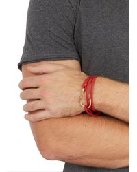 Miansai - Red Hook Leather Wrap Bracelet for Men - Lyst