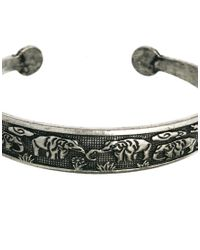 ASOS - Metallic Elephant Cuff Bracelet - Lyst