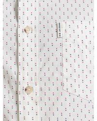 Ben Sherman - White Scattered Print Long Sleeve Shirt for Men - Lyst