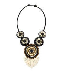 Panacea - Tribal Rope Bib Necklace Black - Lyst