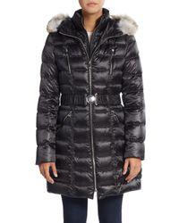 Dawn Levy | Black Alicia Fur-trimmed Down Puffer Coat | Lyst